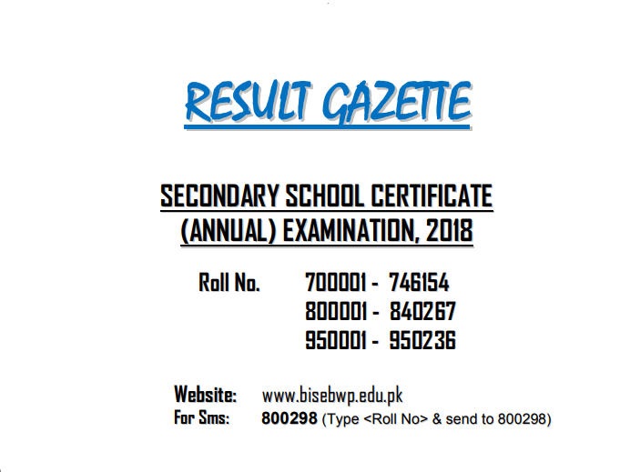 1ST YEAR RESULT 2019 FAISALABAD BOARD DATE BY NAME ROLL NO GAZETTE